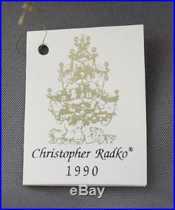 Rare Christopher Radko Byzantium Christmas 1990 Ornament 90-103-0 Orange A