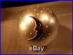 Rare Christopher Radko Christmas Ornament Celestial Sherbet Signed By Radko 3rd