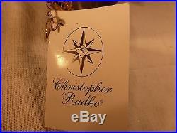 Rare Christopher Radko Christmas Ornament John Kerry Signed 2003 Starad Ltd