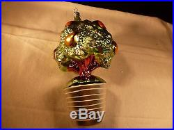 Rare Christopher Radko Christmas Ornament Partridge In A Pear Tree 12 Days
