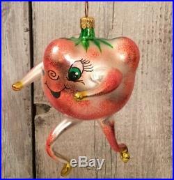 Rare Christopher Radko Tutti Frutti Ornament Strawberry Blown Glass Vintage 1995