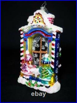 Rare Christopher Radko Workshop Wonder Santa 2 Sided Ornament 2005