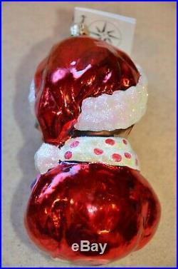 Rare Le Christopher Radko Sir Elton Claus Elton John Santa Christmas Ornament