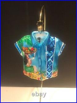Rare/ret/ Christopher Radko Hawaii Christmas Ornament Hula Girl Hawaiian Shirt