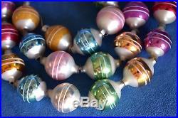 Retired CHRISTOPHER RADKO Silver Striped Christmas Balls Tree Ornament Garland
