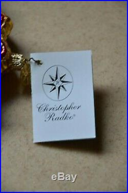 Retired Very Rare Christopher Radko Snow Blossom Snowflake Christmas Ornament