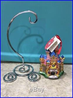 SIGNED 50th Anniversary Christopher Radko Sleeping Beauty Castle Ornament