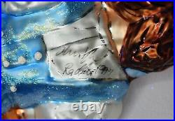 SIGNED BY Christopher Radko! Wizard of Oz Dorothy & Toto Glass Ornament Holiday