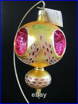 SPECTACULAR Vintage Christopher Radko MIDAS TOUCH Christmas Ornament, RARE