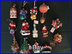 Set of 14 New Christopher Radko Vintage Christmas Ornaments Mickey Minnie Mouse