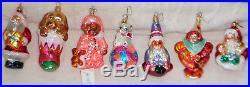 Set of 22 Christopher Radko Glass Christmas Ornaments for Pediatric Cancer