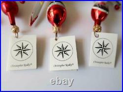 Set of 3 CHRISTOPHER RADKO Winter Olympic / Ski Competitors Ornament Italy