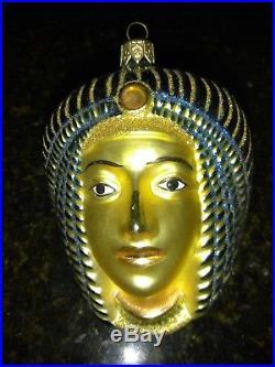 Set of 4 Christopher Radko Christmas Ornament Egyptian Ltd Pharaoh With Box