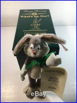 Steiff Bugs Bunny Limited Edition Ornament Bugs Bunnys Carrot New 1999