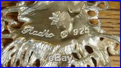 Sterling Silver Christopher RadKo Winter Spirit Santa Ornament slightly used