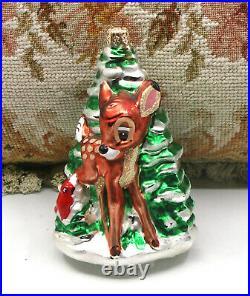 Super Cute! 1997 Christopher Radko Disney Bambi Christmas Tree Holiday Ornament