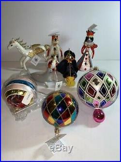 Super RARE Vintage Radko Ornament Lot New WithTags Italian Balls XL Drop