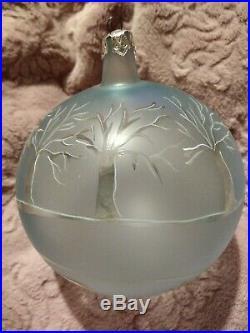 Super Rare! 89-019-0 Christopher Radko Winter Landscape Christmas Ornament 4.5