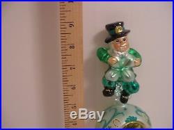 TOP O' THE TREE Topper IRISH FINIAL Christopher Radko St Patrick's Day Ornament