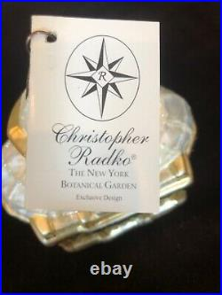 The New York Botanical Garden Christopher Radko Ornament New In Box With Tag
