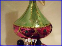 VERY RARE Christopher RADKO Penguins TUXEDO CAROUSEL Ornament Italy with Tag WOW