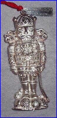 VHTF Christopher Radko Limited Edition Sterling Christmas Guard Ornament Pendant