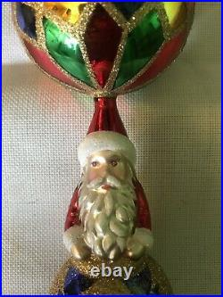VINTAGE CHRISTOPHER RADKO SANTA ORNAMENT FROM 90 HAND MADE IN POLAND. 8/12 In