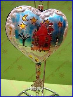 Valentine Christopher Radko Prototype Santa Coming to Town Glass Ornament