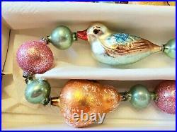 Very Rare! 1994 Radko PARTRIDGE PEAR Glass Garland 36 Ornament 94-435-1 Retired