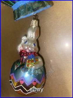 Very Rare Radko Breezy Billy Ornament 10' top to bottom