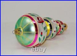 Vintage 1992 Radko Floral Cascade Tier Drop Christmas Ornament Signed By Radko