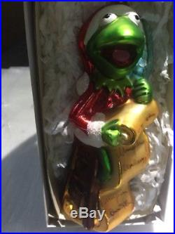 Vintage 1997 Christopher Radko Kermit Collection Christmas Ornament