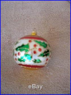 Vintage Christopher Radko 1993 Holly Ribbons Christmas Ornament