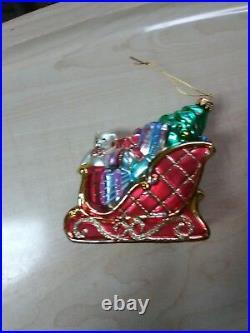 Vintage Christopher Radko Christmas Ornament collection x9
