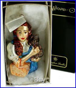 Vintage Christopher Radko DOROTHY & TOTO Ornament Wizard of Oz LE 97-WB-18 NIB