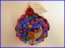 Vintage Christopher Radko Harold Lloyd Trust Holiday Bounty Christmas Ornament