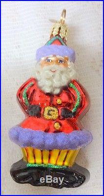 Vintage Christopher Radko Little Gems Collection Santa Christmas Tree Ornament