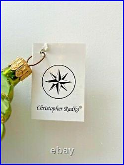 Vintage Christopher Radko PROUD PEACOCK CELESTIAL Christmas Ornament, Rare, 1990
