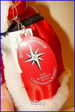 Vintage Christopher Radko Santa's Solo Finial Tree Topper Ornament 2004 Italy