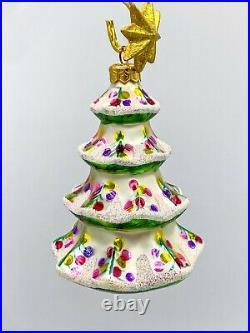 Vintage Christopher Radko Winter Tree Ornament 1992 Retired 92-101-2