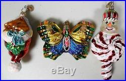 Vintage Lot of 24 Christopher Radko Glass Christmas Ornaments Some Retired