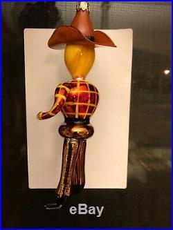 Vintage NOS Christopher Radko Gunslinger Cowboy Christmas Ornament 7.5 R26