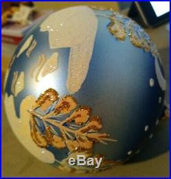 Vintage Radko Glass Ornament! 1997 Beautiful Piece Let It Snow. #97-293-0. 5in