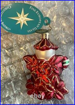 Vintage Radko Lil Gems Holly Jeans POINZY PAL Christmas Ornament & Box