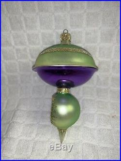 Vintage Rare Christopher Radko 1990 ASTRO TOP REFLECTOR Christmas Ornament A