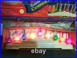 Vintage Vintage Christopher Radko 9 Light Bubble-Brite Candolier Shiny Brite EUC