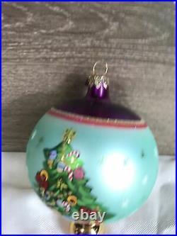 Vintage christopher radko christmas tree drop ornament very colorfull