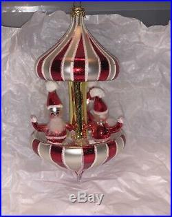 Vintage radko christmas ornaments VERY RARE Peppermint Twist Carousel