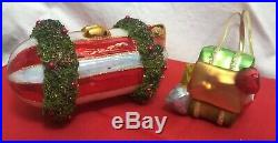 Vtg Christopher Radko Ornament RARE Santa Airship Sleigh ZEPPELIN blimp Air Ship