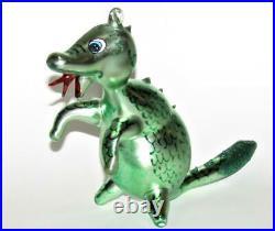 Vtg Radko Puff Magic Dragon Italy Italian Glass Figural Holiday Ornament
